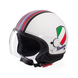 CASCO VESPA V-STRIPES BIANCO OPACO VISIERA TAGLIA L 59/60 ORIGINALE 606524M04W