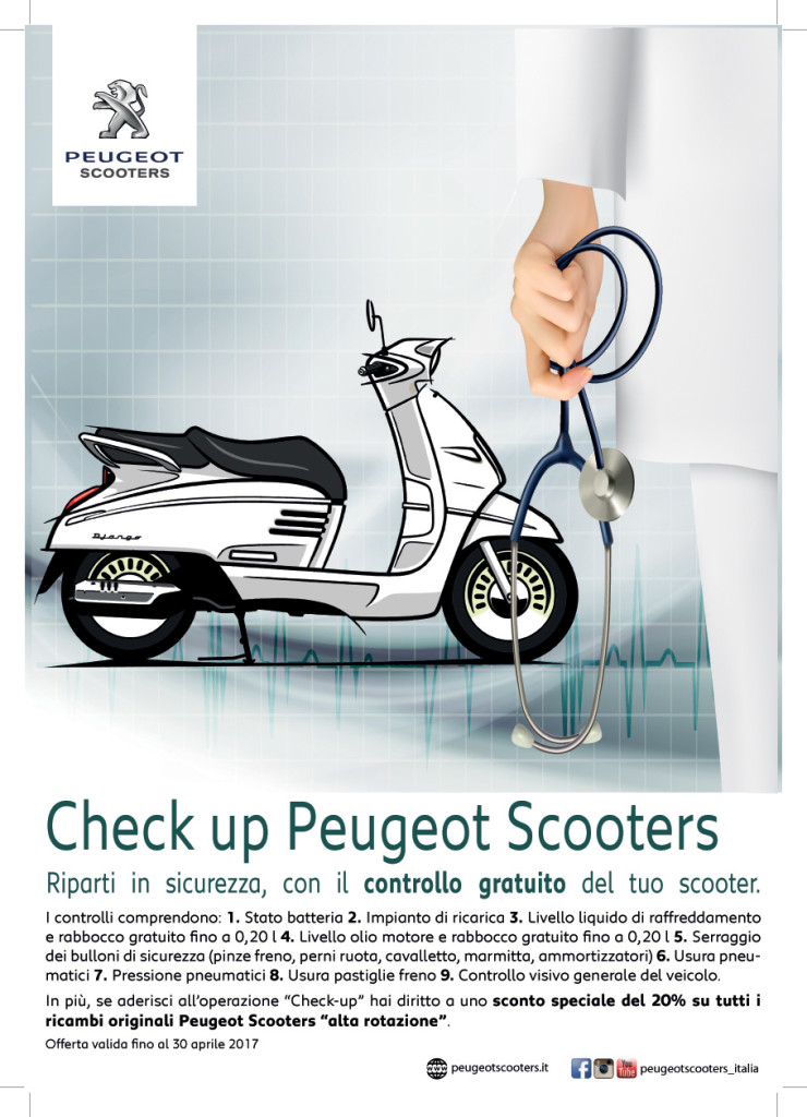 Poster Check up Peugeot Scooters A3