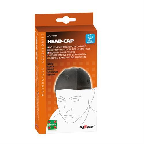 cuffia sottocasco in cotone Head-Cap Nero