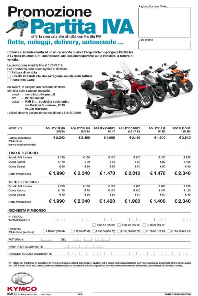 promozioni scooter per partita iva