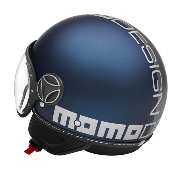 MOMO Design CASCO DEMI JET FIGHTER CLASSIC BIANCO LUCIDO//NERO TG.M//L